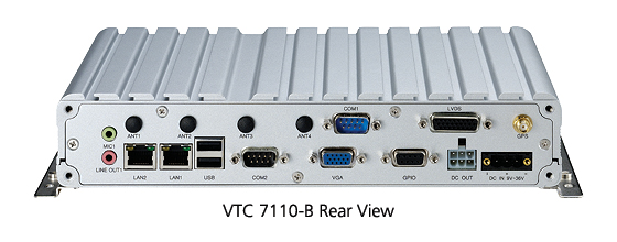 Vehicle Terminals - VTC 7110-B rear view